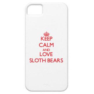 Keep calm and love Sloth Bears iPhone 5 Covers