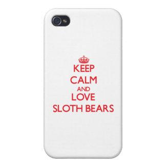 Keep calm and love Sloth Bears iPhone 4 Cover