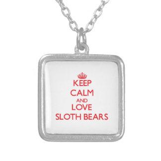 Keep calm and love Sloth Bears Jewelry
