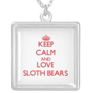 Keep calm and love Sloth Bears Necklace