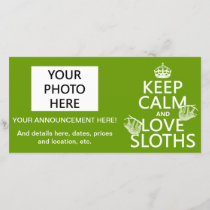 Keep Calm and Love Sloths (any background color) Announcement