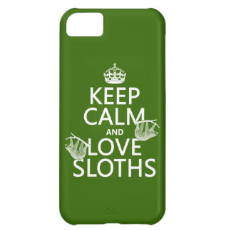 Keep Calm and Love Sloths (any background color) Cover For iPhone 5C