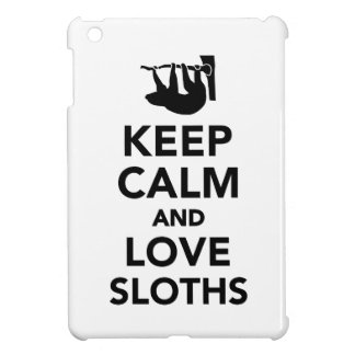 Keep calm and love sloths iPad mini cover