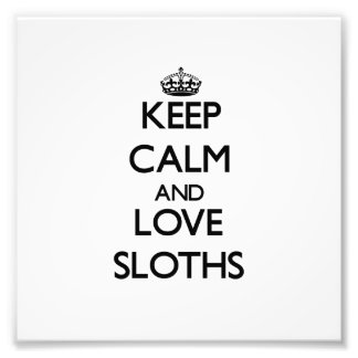 Keep calm and Love Sloths Photo Art
