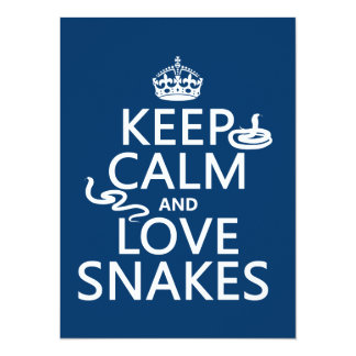 Keep Calm and Love Snakes (all colors) Card