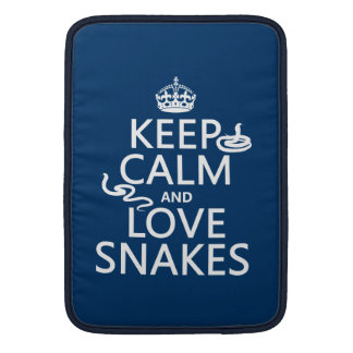 Keep Calm and Love Snakes (all colors) MacBook Air Sleeve