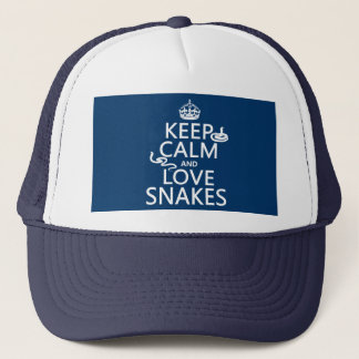 Keep Calm and Love Snakes (all colors) Trucker Hat