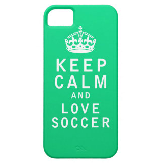 Keep Calm and Love Soccer iPhone 5 Cover