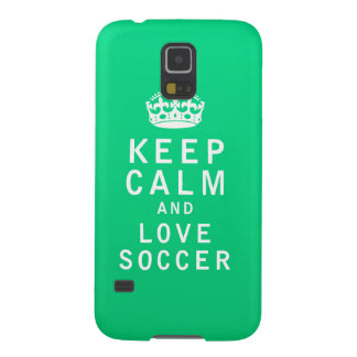Keep Calm and Love Soccer Galaxy S5 Cases