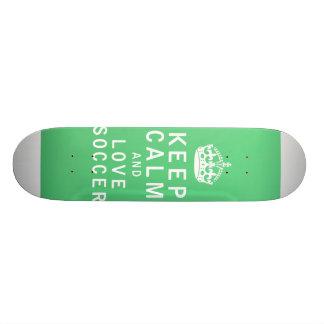 Keep Calm and Love Soccer Skateboard