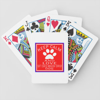 Keep Calm And Love Soft Coated Wheaten Terrier Bicycle Card Deck