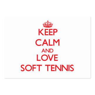 Keep calm and love Soft Tennis Large Business Cards (Pack Of 100)