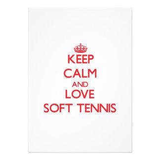 Keep calm and love Soft Tennis Custom Invites