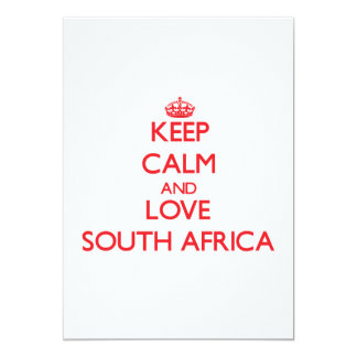 Keep Calm and Love South Africa 5x7 Paper Invitation Card