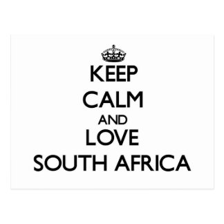 Keep Calm and Love South Africa Postcard