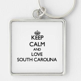 Keep Calm and Love South Carolina Keychains