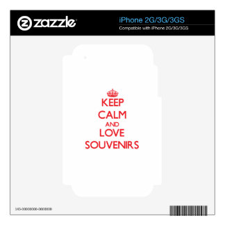 Keep calm and love Souvenirs Decals For The iPhone 3GS