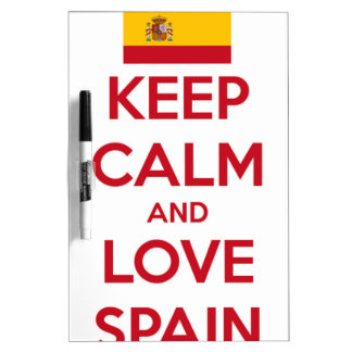 Keep Calm and Love Spain Dry Erase Board