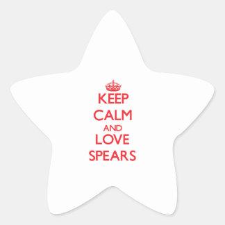 Keep calm and love Spears Star Sticker