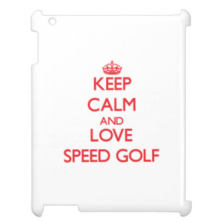 Keep calm and love Speed Golf Cover For The iPad 2 3 4