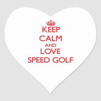 Keep calm and love Speed Golf Stickers