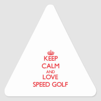 Keep calm and love Speed Golf Triangle Sticker
