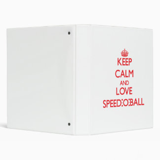 Keep calm and love Speed-O-Ball 3 Ring Binders