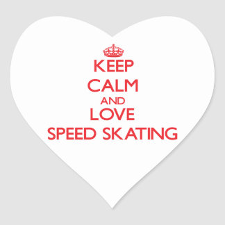 Keep calm and love Speed Skating Stickers