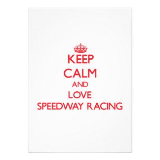 Keep calm and love Speedway Racing Custom Invite