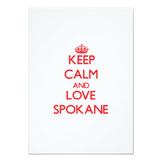 Keep Calm and Love Spokane Personalized Announcements