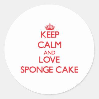 Keep calm and love Sponge Cake Sticker