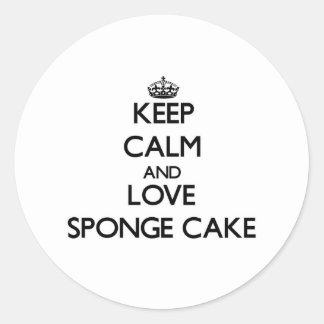 Keep calm and love Sponge Cake Round Sticker