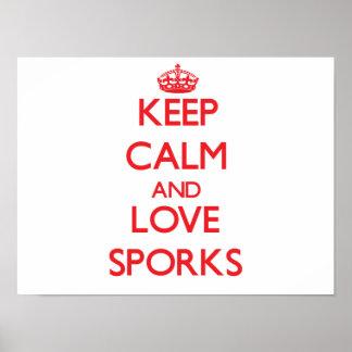 Keep calm and love Sporks Print