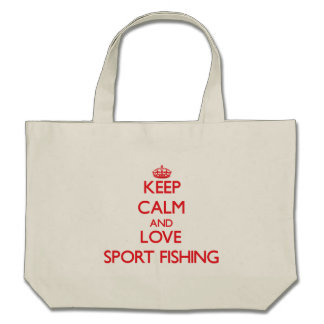 Keep calm and love Sport Fishing Canvas Bag