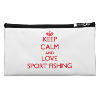 Keep calm and love Sport Fishing Cosmetic Bag