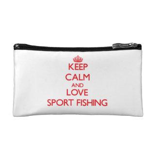 Keep calm and love Sport Fishing Cosmetics Bags