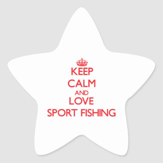 Keep calm and love Sport Fishing Star Stickers