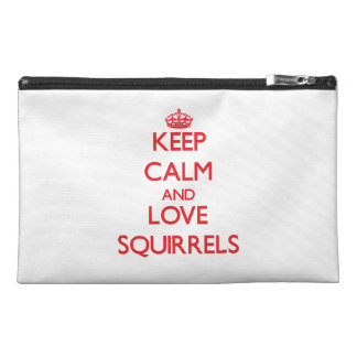 Keep calm and love Squirrels Travel Accessories Bag