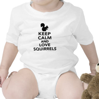 Keep calm and love Squirrels Bodysuit