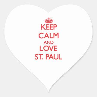 Keep Calm and Love St. Paul Heart Sticker