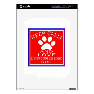 Keep Calm And Love Standard American Eskimo dog iPad 3 Decal