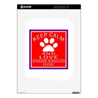 Keep Calm And Love Standard Schnauzer Decal For iPad 2