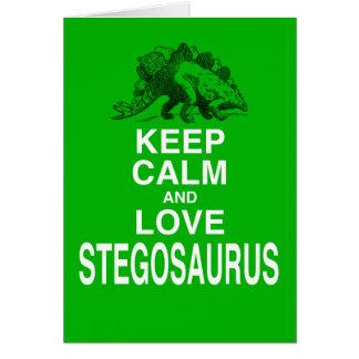 Keep Calm and Love Stegosaurus dinosaur design Cards