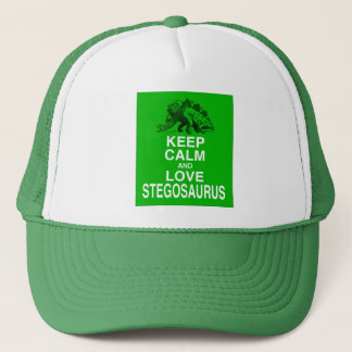 Keep Calm and Love Stegosaurus dinosaur design Trucker Hat