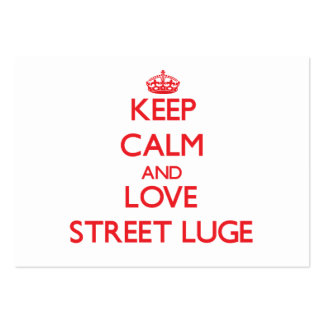 Keep calm and love Street Luge Business Cards