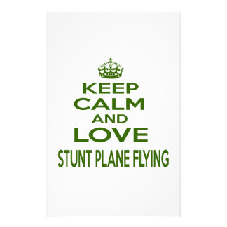 Keep Calm And Love Stunt Plane Flying Stationery Paper