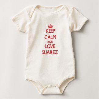 Keep calm and love Suarez Baby Bodysuit