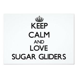 Keep calm and Love Sugar Gliders Custom Invite