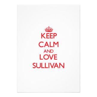 Keep calm and love Sullivan Custom Announcements