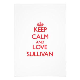 Keep Calm and Love Sullivan Invite